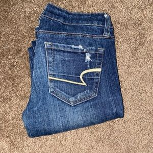 NEW! American Eagle Skinny Jeans with rips